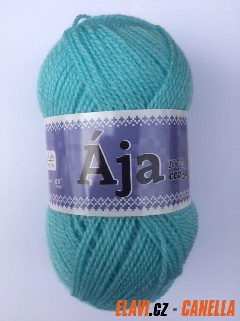 Pletací příze AJA - 50g - světlonce tyrkysová dac894cf15