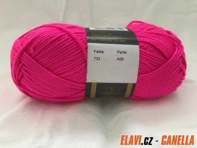 Pletací příze Micro - 50g - 733 svítivě růžová 9259524f1d
