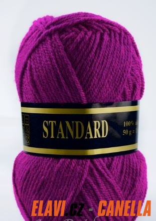74c5e3568b3 Pletací příze Standard zářivá vínovorůžová - 732 - 50g
