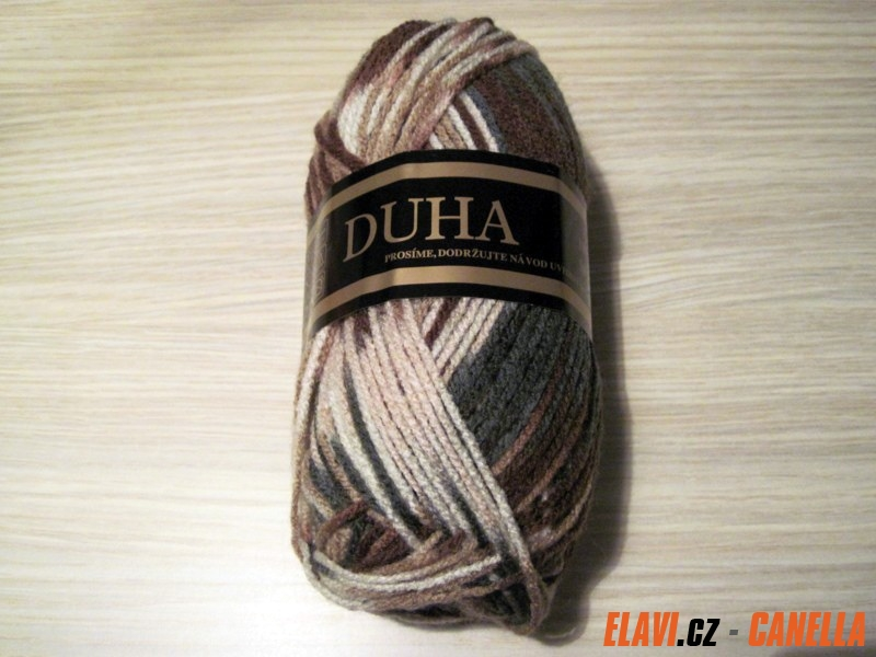 Pletací příze Duha - 933 hnědobéžová - 50g 9e0bcc25e6